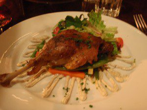 Roasted Confit of Duck Leg at Midi Bistro