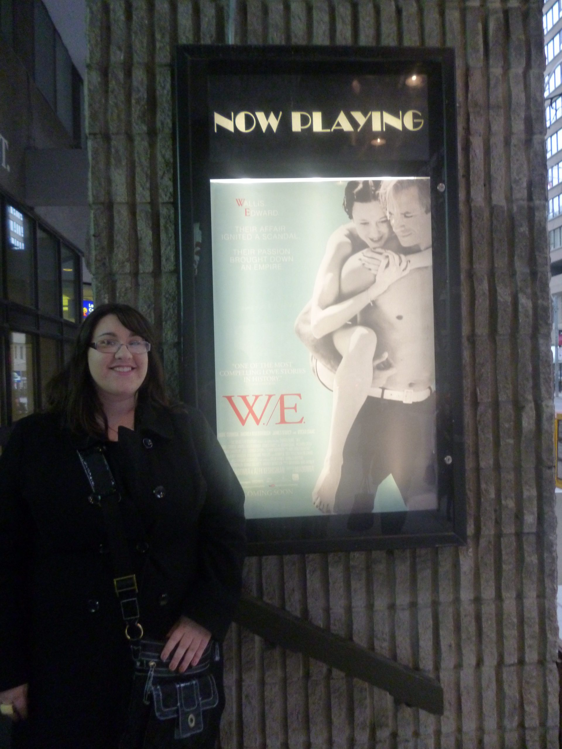 "Gina Macdonald, Toronto, 2012. CAPTION: ""Myself outside the theatre, eagerly awaiting the screening"""