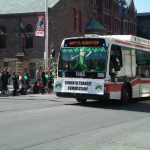 TTC entry in the 2009 Toronto St. Patrick's Day parade Credit: Karen Hayes