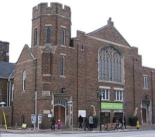 The Danforth Church, winter home of the market